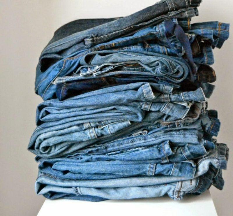 was kann man aus alten jeans machen inspirierende diy. Black Bedroom Furniture Sets. Home Design Ideas