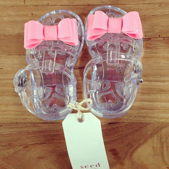 Seed Heritage Baby Girl Bow Jellies | Cute baby shoes, Baby