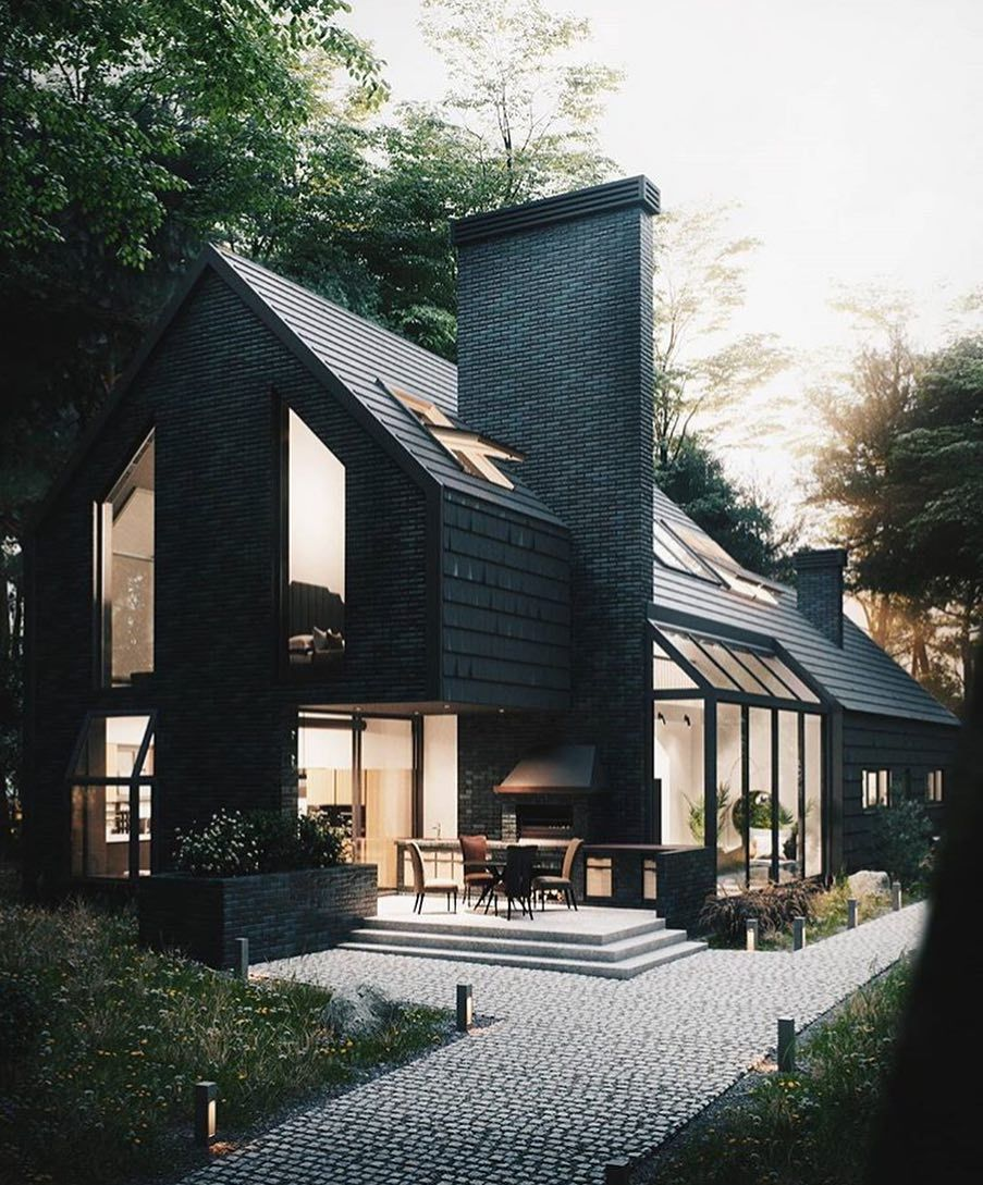 Home Inspiration My Living Pursue Your Dreams Of The Perfect Scandinavian Style Home With The House Architecture Styles Black House Exterior House Exterior
