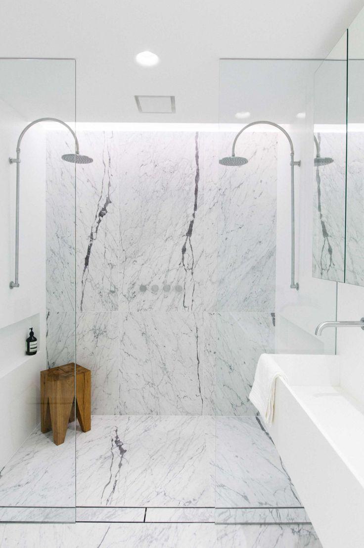 Marble Double Shower Master Bath Bathroom Ideas Shower Design Shower Masterbath Home Marble Bathroom Designs White Marble Bathrooms Bathroom Shower Tile