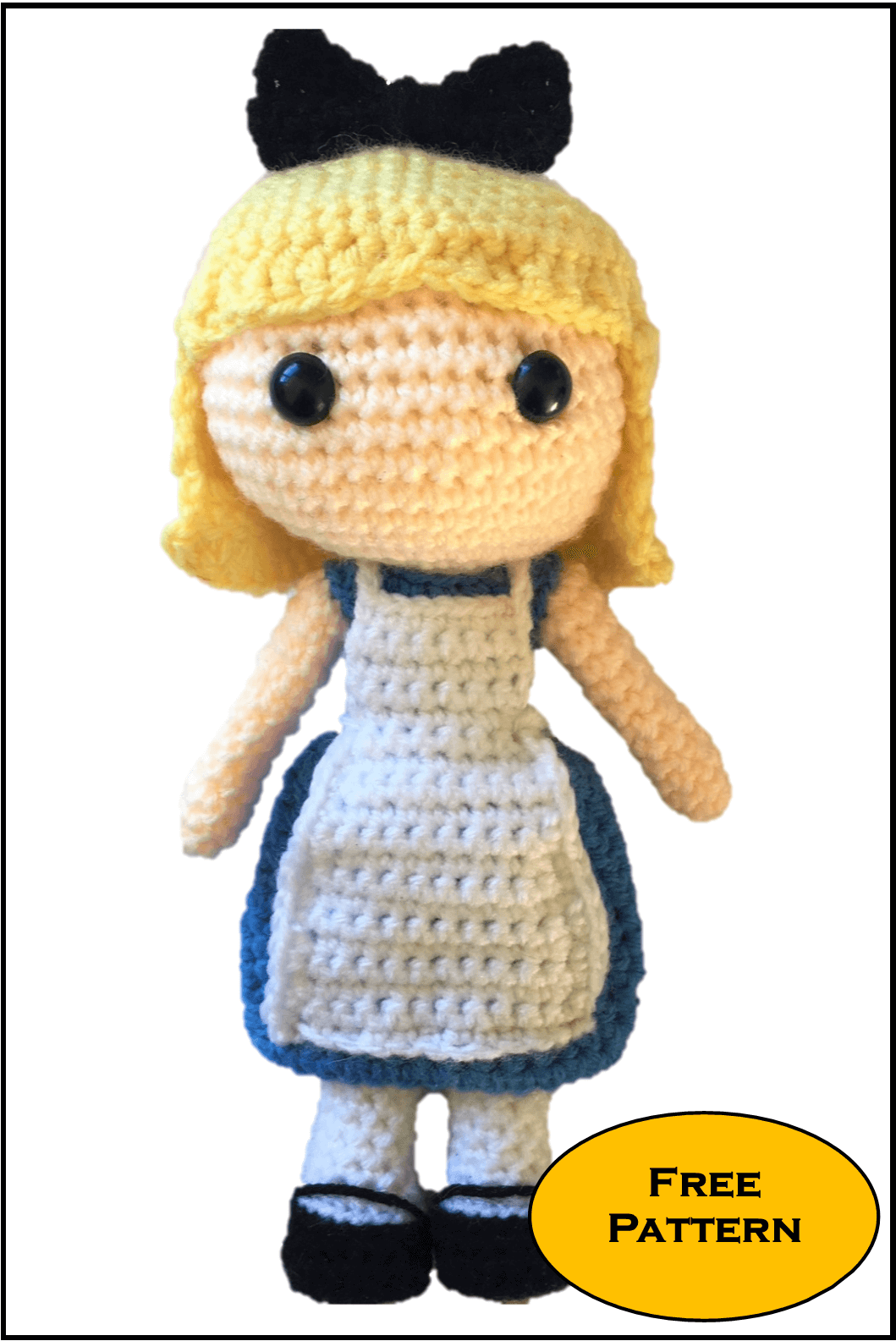 Free Snow White Amigurumi Pattern (Crochet) – EN – Free Amigurumi | 1585x1059