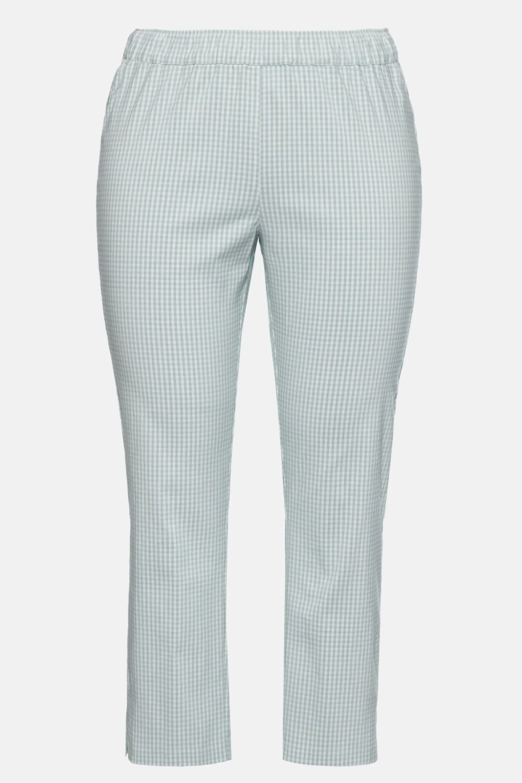 Spodnie Sienna 7 8 Kratka Vichy Waskie Bengalina 74750473 Ulla Popken Sienna Fashion