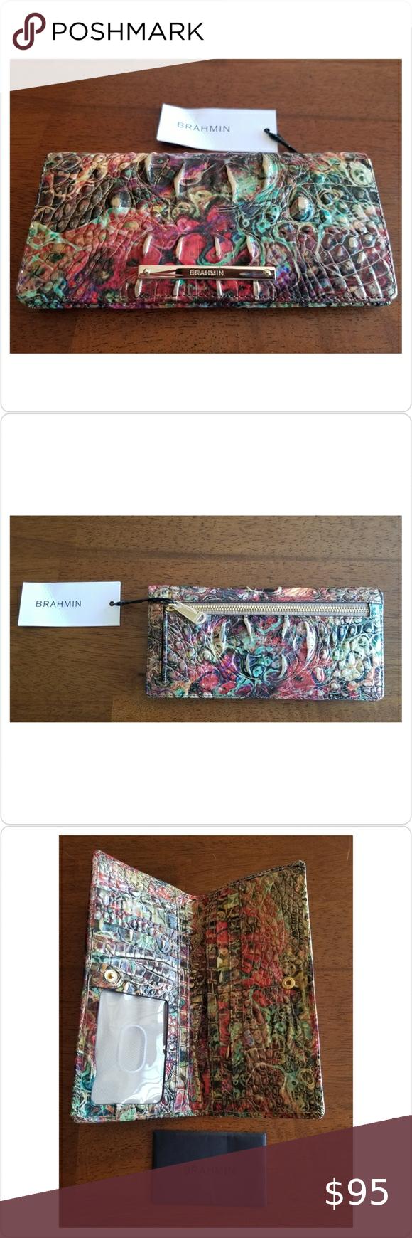 New Brahmin AMMOLITE Ady Melbourne Wallet