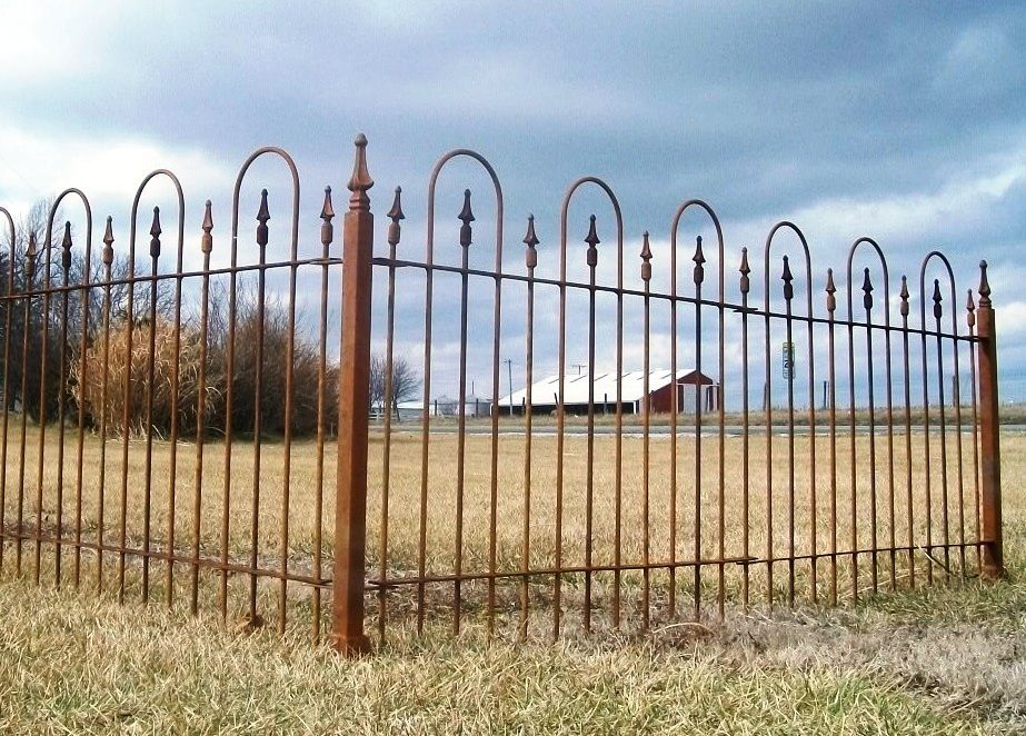 Beautiful Wrought Iron Fence To Enclose Yards   3 Foot Tall
