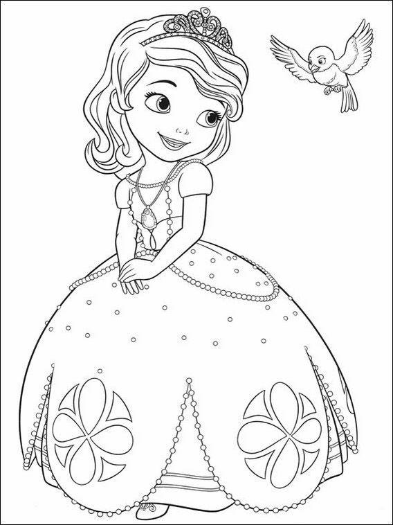 sofia die erste 2 ausmalbilder für kinder. malvorlagen zum