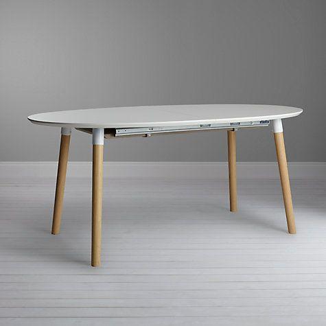Buy John Lewis Belina 6 8 Seater Extending Dining Table White Online At Johnlewis