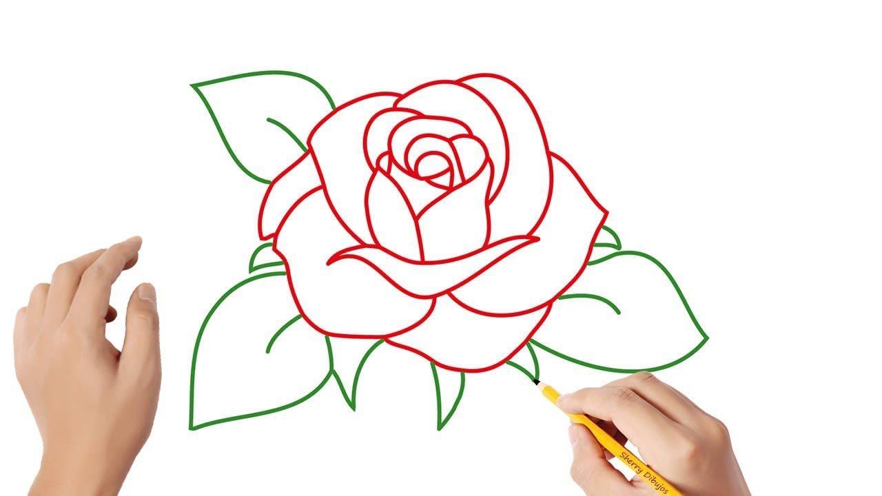 Como Dibujar Una Rosa Paso A Paso Dibujos Para Ninos Como Dibujar Rosas Dibujos De Rosas Dibujo Paso A Paso