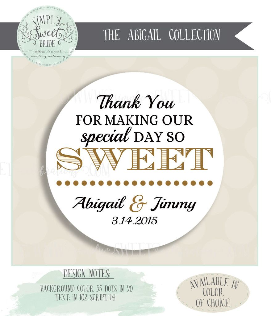 wedding favor sticker. 2\