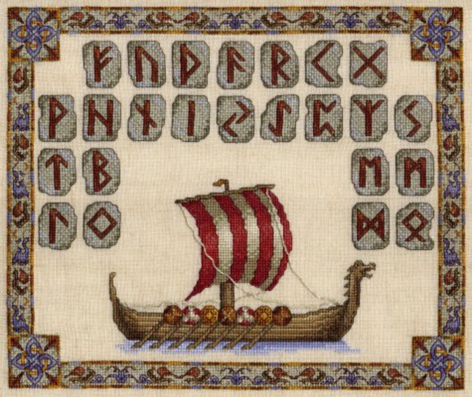VIKING LONGBOAT # 3 COUNTED CROSS STITCH CHART