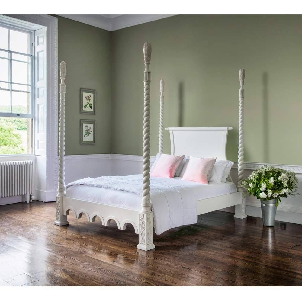Provencal Four Poster White Bed Luxury