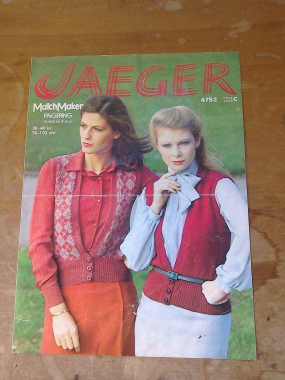 Original Retro Vintage 1980s Jaeger Knitting Pattern By Mollytops