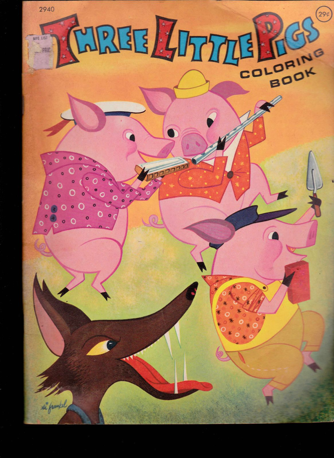 The Three Little Pigs Coloring Book (Playmore) 1960s | Three little ...