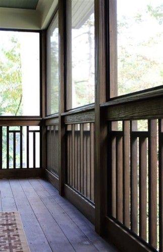 Best Craftsman Variation On Vertical Wood 2X2 Railing Deck 400 x 300