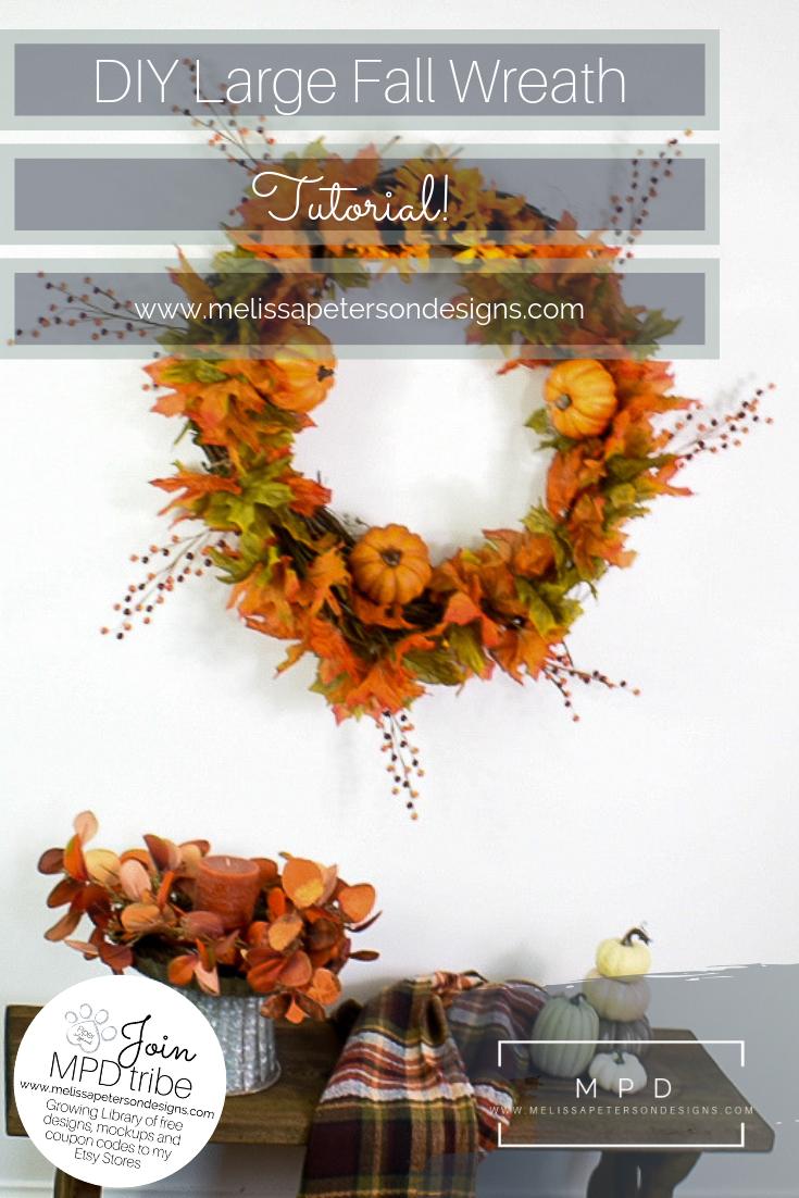 Photo of How I made my own DIY Large Fall Wreath: Easy Tutorial #DIYFallWreath #FallWreat…