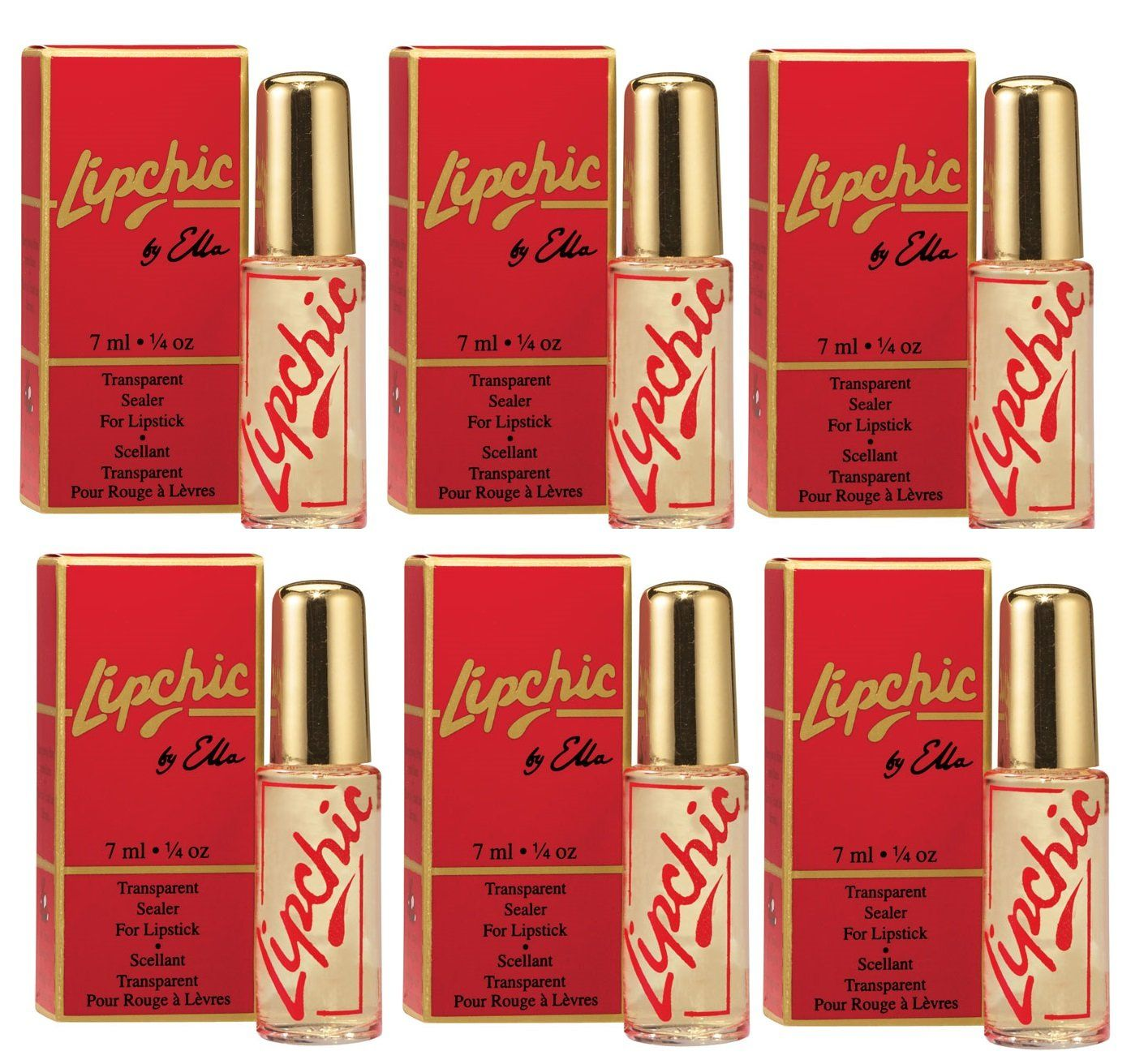 Lipchic Lipstick Sealers 6 Pieces Value Pack 6 Lipchic Lipstick Sealers Lipchic Lipstick Sealer Contains No Ink Dye Lipstick Sealer Lipstick Travel Makeup