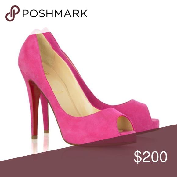 online store 4fe25 94a9b Christian Louboutin very prive 100 heels Fuchsia/purple ...
