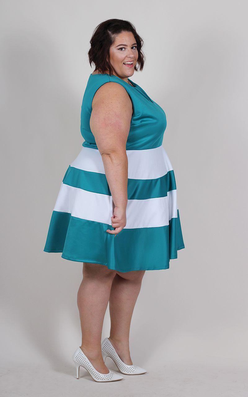 Plus Size Clothing for Women - Jessica Kane Skater Dress - Teal ...