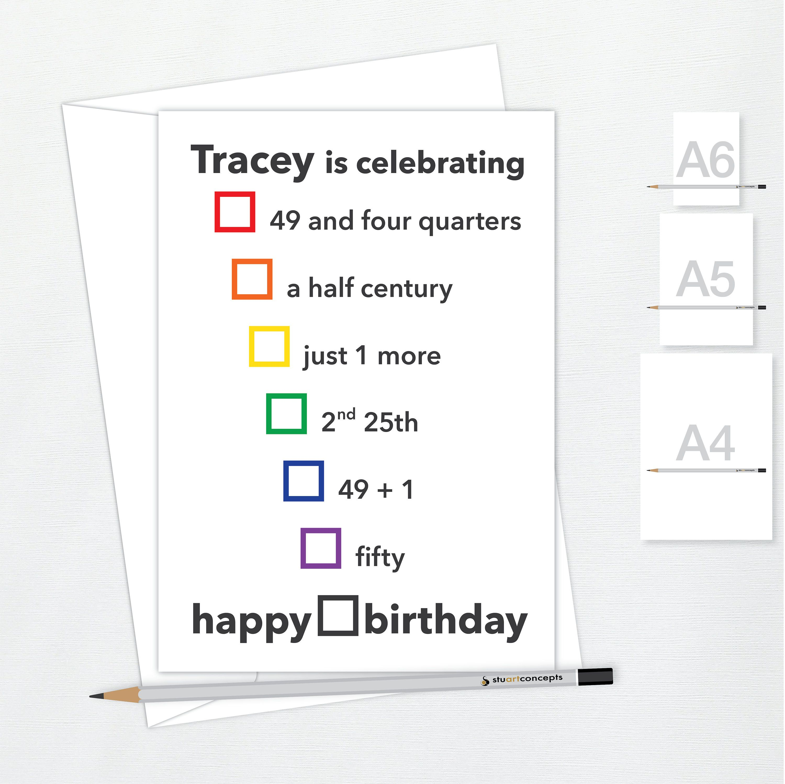 Funny 50th Birthday Card For Him Or Her Avoiding 50 Etsy 50th Birthday Funny 40th Birthday Funny Birthday Cards For Him