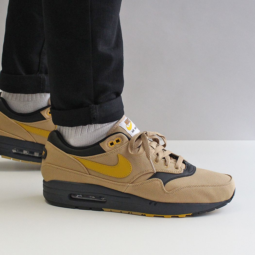 images détaillées bce48 8c1e2 NIKE AIR MAX 1 PREMIUM SHOES – ELEMENTAL GOLD/MINERAL YELLOW ...
