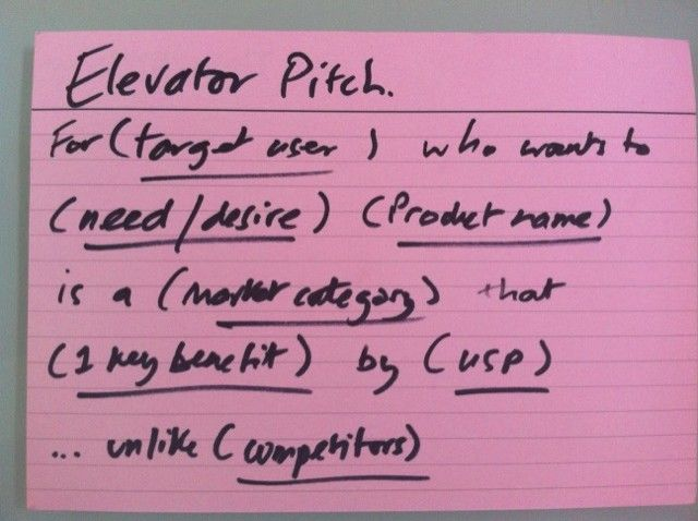 Elevator Pitch  Your Elevator Pitch