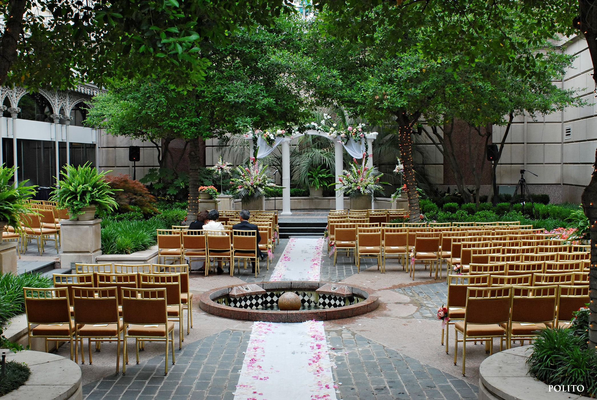 A beautiful outdoor wedding venue at Rosewood