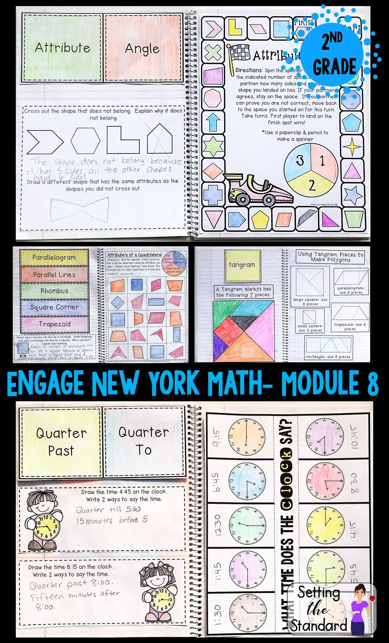 Math Interactive Notebook Grade 2 Module 8