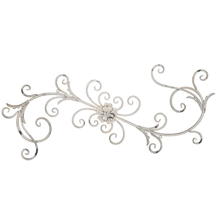 Antique White Floral Swirl Metal Wall Decor | 1930\'s craftsman ...