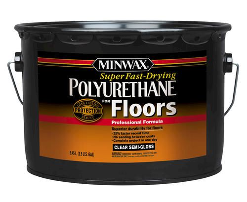 Minwax Super Fast Drying Clear Semi Gloss Polyurethane 2 5 Gal Minwax Flooring Fast Drying
