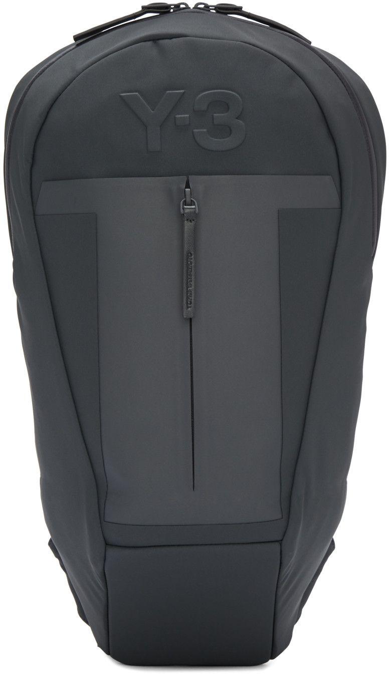 Y-3 Blue   Grey Neoprene Backpack.  y-3  bags  leather  lining  backpacks   metallic   af77cdd4fd633
