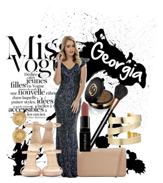 """Langhem Georgia Evening Dress"" by swishclothing-official on Polyvore featuring Hobbs, Étoile Isabel Marant, Giuseppe Zanotti, Versace, Gucci, MAC Cosmetics, Smashbox, women's clothing, women's fashion and women"