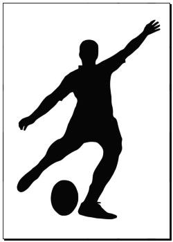 Poster Of Sport Silhouette Rugby Football Kicker K5313521 Print Photo Art Canvas Prints Wall Decor Artwork Prints Wall Mur Rugby Art Rugby Images Rugby