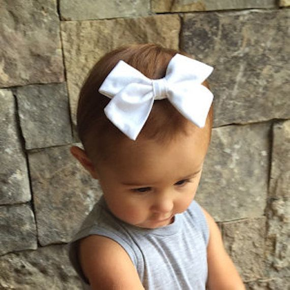 Baby Girl Toddler Girl's Fabric Bow  Nylon by TheBlissfulBow