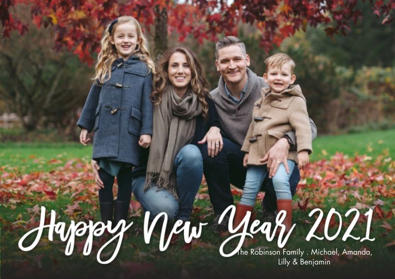 Personalized New Year S 5x7 Photo Cards Premium Cardstock 120lb With Rounded Corners Card Statio In 2020 Photo Cards 5x7 Photo Photo