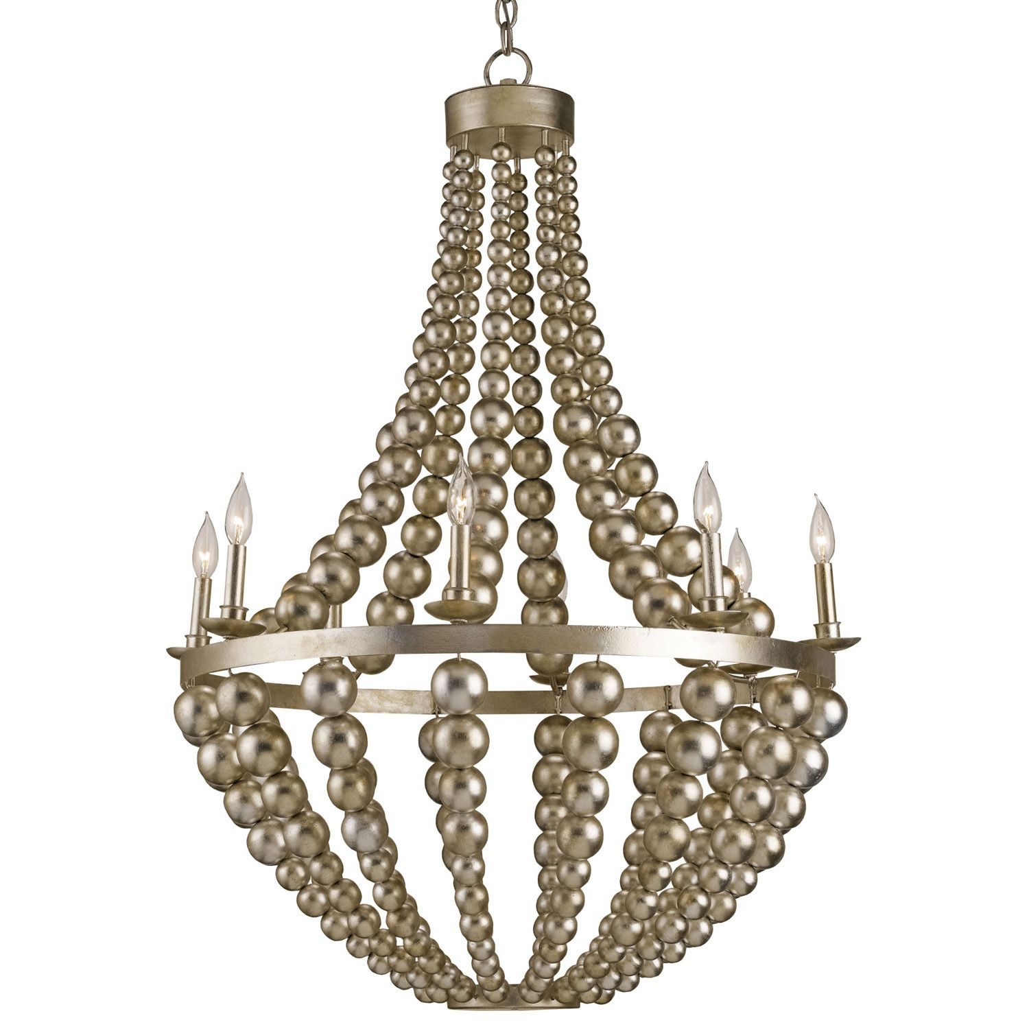 "Currey & pany Silvermore Chandelier CU9587 33"" Diameter x 46""H"