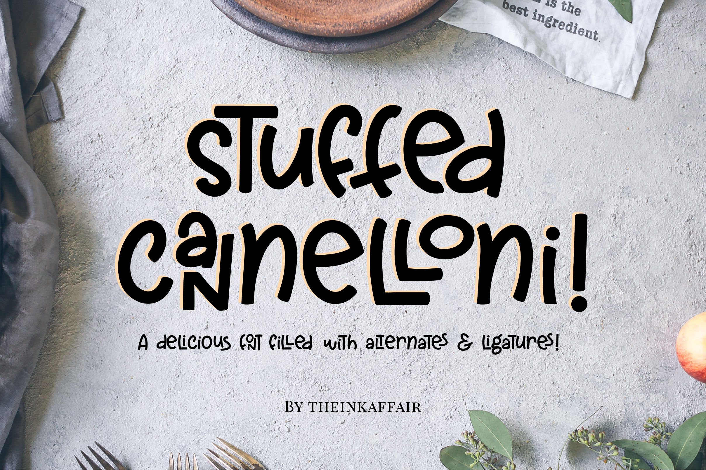 Stuffed Cannelloni a deliciously fun font Cool fonts