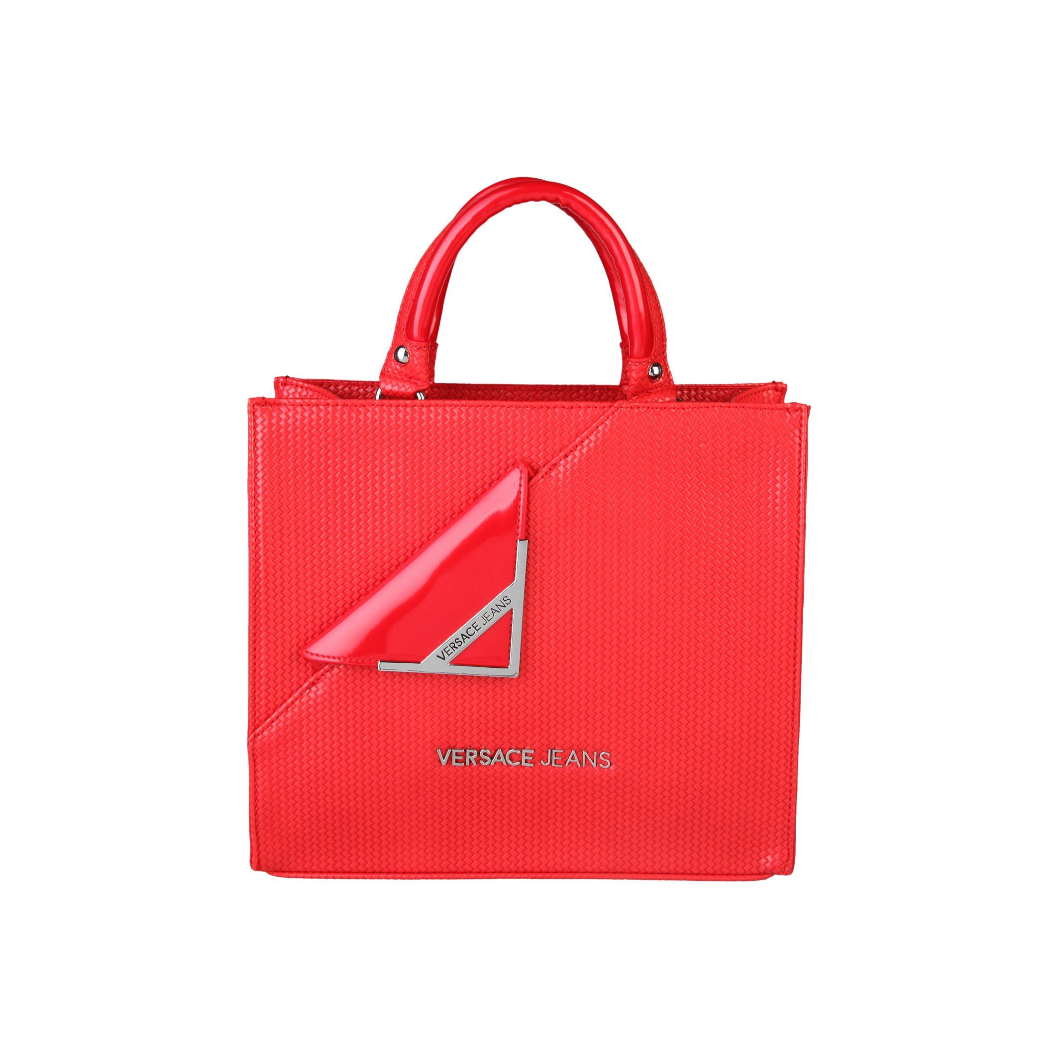 Versace Jeans Womens Ladies Handbag With Fold Over Feature (One Size) (Red d1ce58e335230