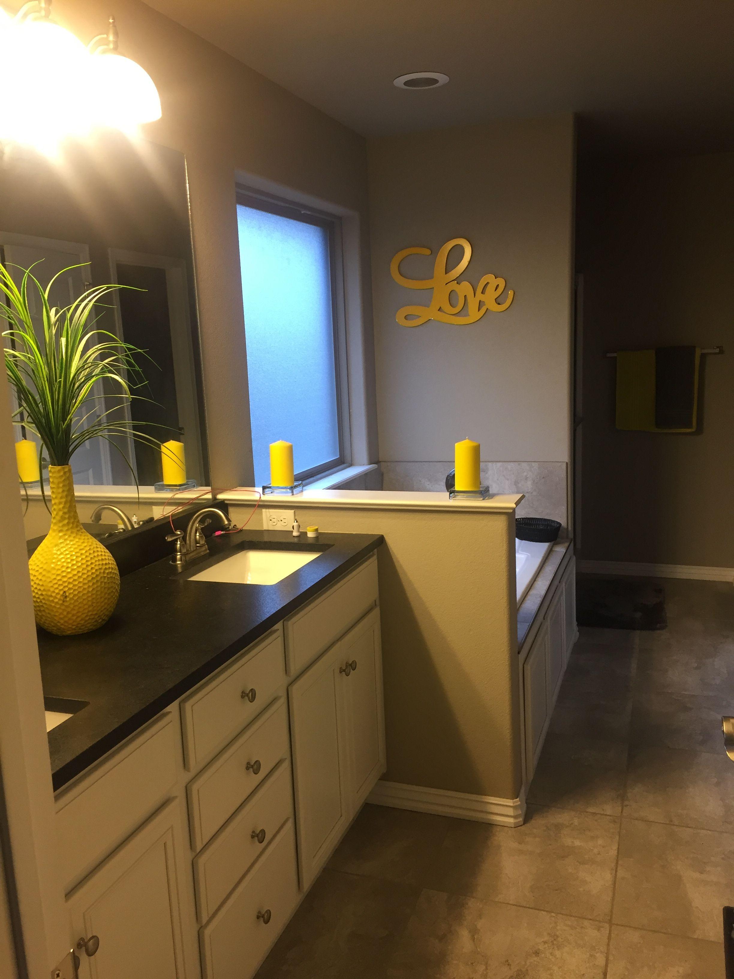 Yellow Gray Bathroom Yellow Grey Bathroom Gray Bathroom Decor Grey Bathrooms