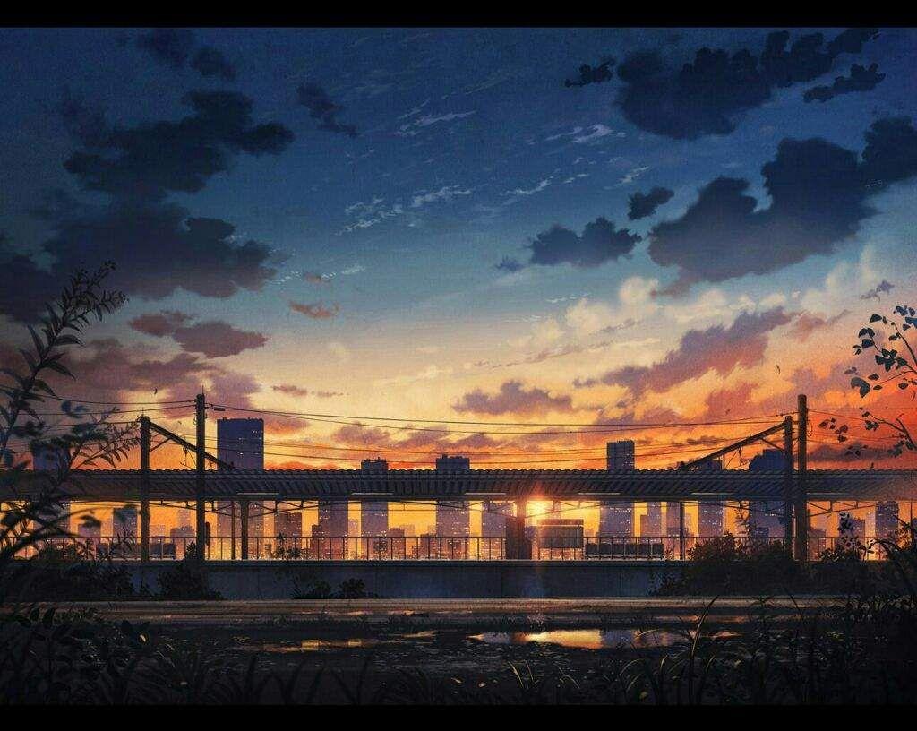Рассвет/закат Аниме Amino Amino Пейзажи, Закаты и
