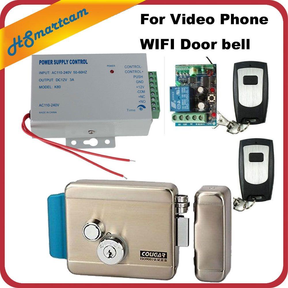 Home Wireless Remote Control Electric Door Lock Kit Access Power Supply For Wifi Ip Doorbell Video Intercom Door Phone System Www Thegreatbigstore Com In 2020 Power Supply Remote Control Wireless