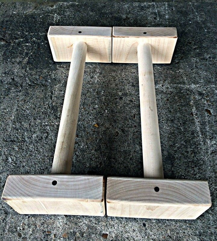 All-Maple Wood Parallettes