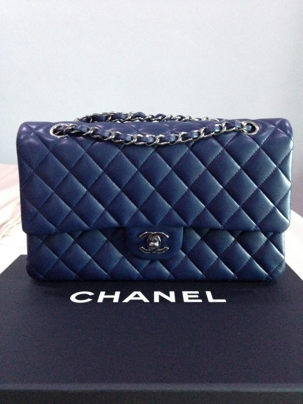 428bd5f7578cb8 Chanel Classic Flap Blue Google Search Bags In 2018 Pinterest