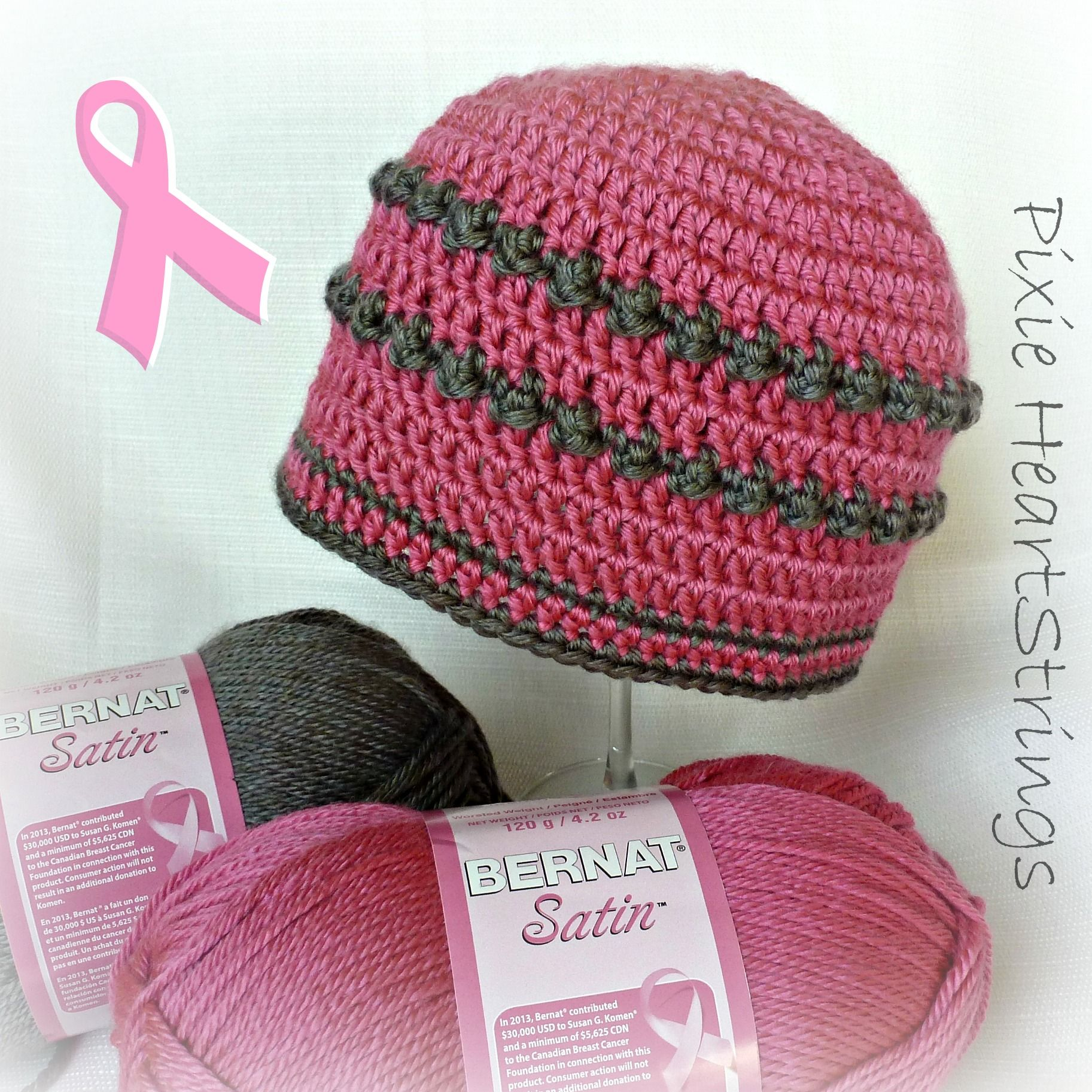 Cute Chemo Caps! Please consider donating your skills to Crochet for Cancer. 3fdc8b8ed12