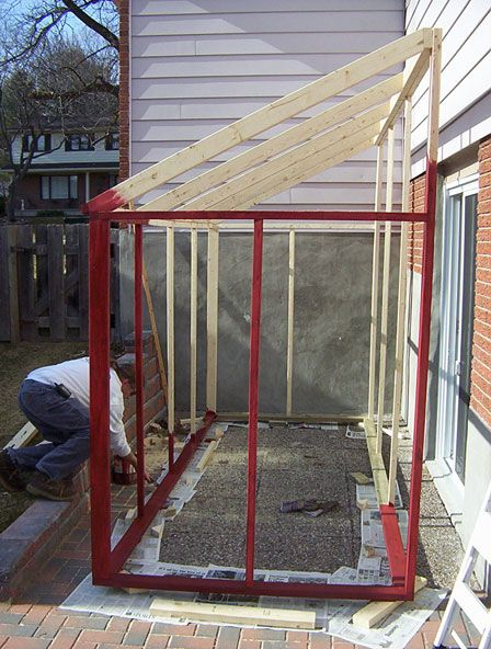 Sunroom Plans Temporary Before The Final I Don T Think It Would Work With Our Winters Though Shed House Plans Shed Homes Screen House