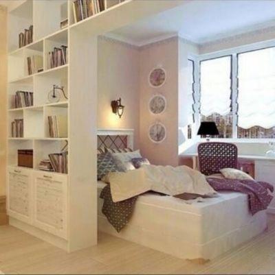 Wohn Schlafzimmer, Schlafzimmer Ideen, Schlafzimmer Einrichtung, Einrichten  Und Wohnen, Kleine Wohnung Einrichten, Raumteiler, Architektur Und Wohnen,  ...