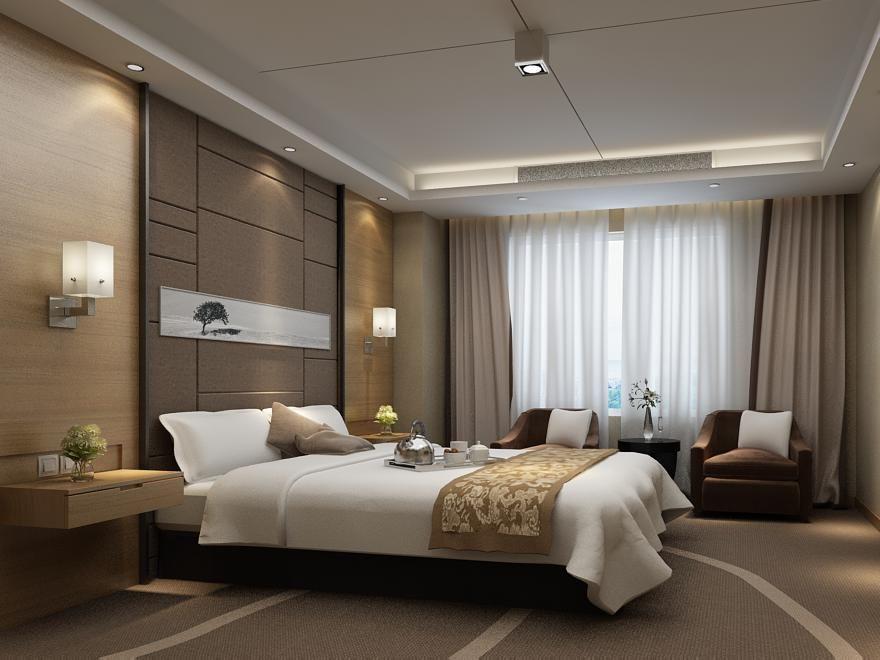 Renders 3d For Master Bedroom Project: Guest Room 053 3D Model- * Highly Detailed Hi-Tech
