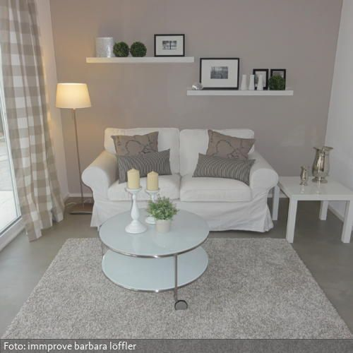 Der moderne Landhausstil in Naturt nen gehalten, wirkt behaglich - moderner landhausstil wohnzimmer