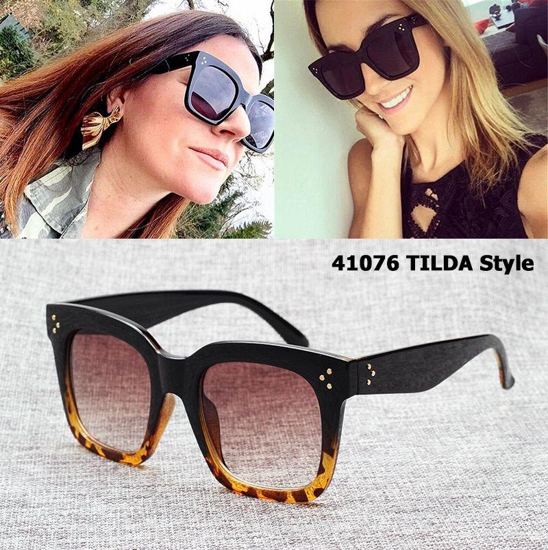 fe65b2412 JackJad New Fashion 41076 TILDA Style Three Dots Sunglasses Women Gradient Brand  Design Vintage Square Sun Glasses Oculos De Sol