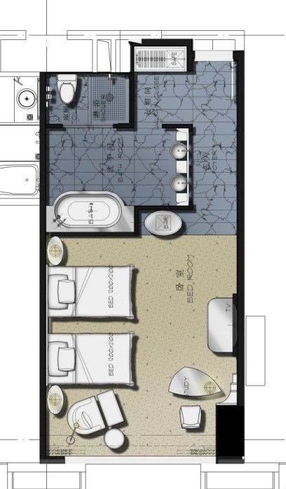 一个酒店的标准间30种思路 酒店平面研讨 Idhoof Hotel Room Design Plan Hotel Room Design Hotel Room Plan