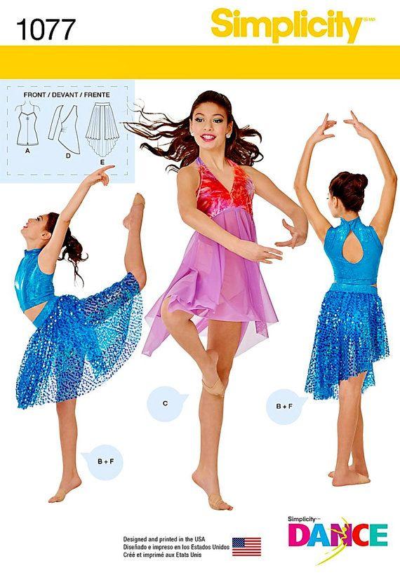Girls Dancewear Pattern Sz 7810121416 Simplicity By Blue510