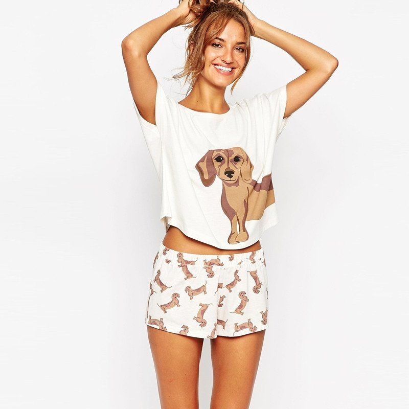 c34ab56963 Loose-Fitting Dachshund Top + Wiener Shorts